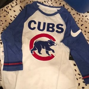 Chicago Cubs Nike 3/4 sleeve shirt
